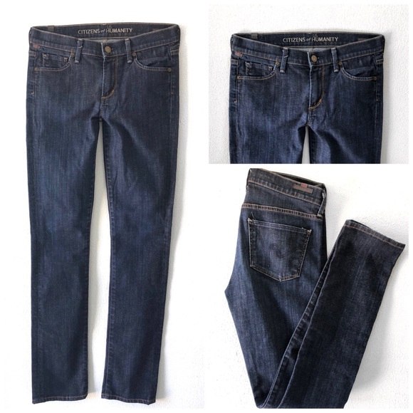 Citizens Of Humanity Denim - CITIZENS OF HUMANITY ELSON MED RISE STRAIGHT JEANS